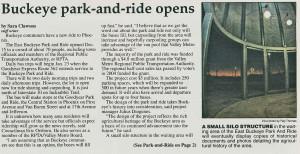 Buckeye Park and Ride Facility 2010-2011