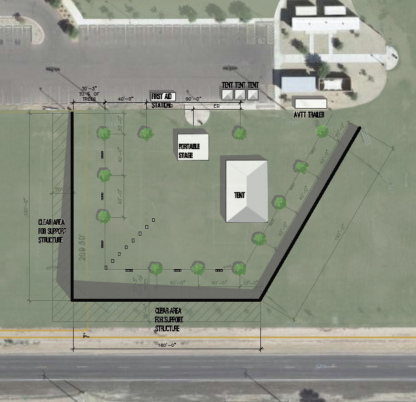 The Site Plan On The Left Is The Original Layout Of The Wall Configuration  At The Edgar Park Along Beloat/Irwin And Miller Road About 15 Minutes South  Of ...