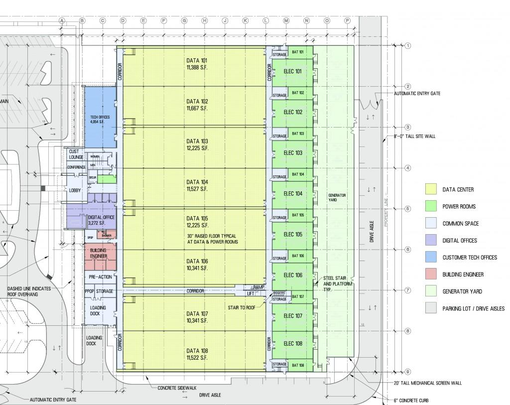 Data center project phoenix architects serbin studio for Data center floor plan