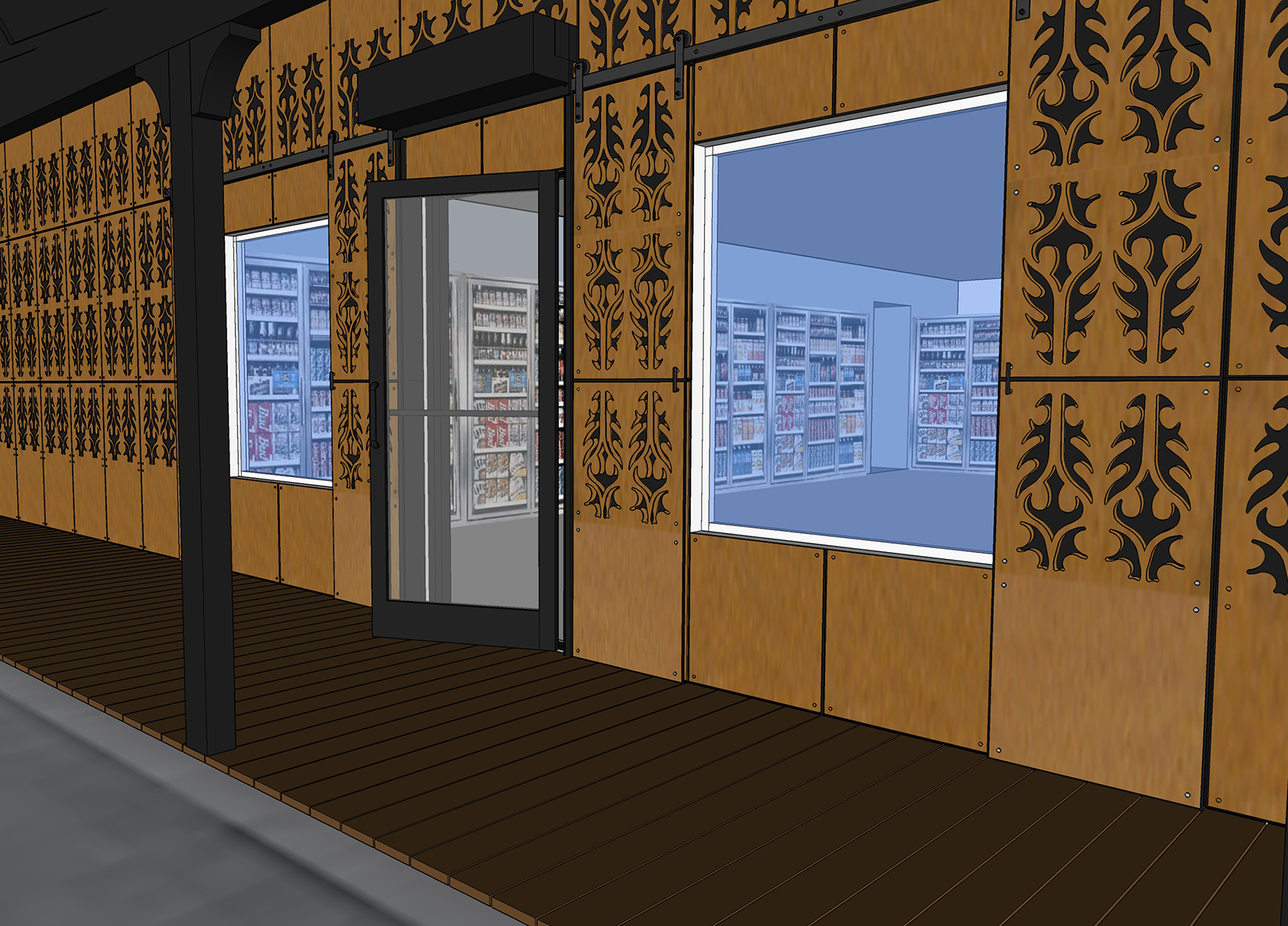 Retail Business Entry Doors : Commercial architects phoenix goodyear architect