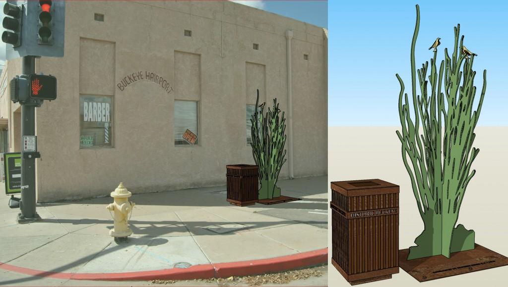 Public Art - ocotillo located at NorthWest corner of Monroe and 4th Street