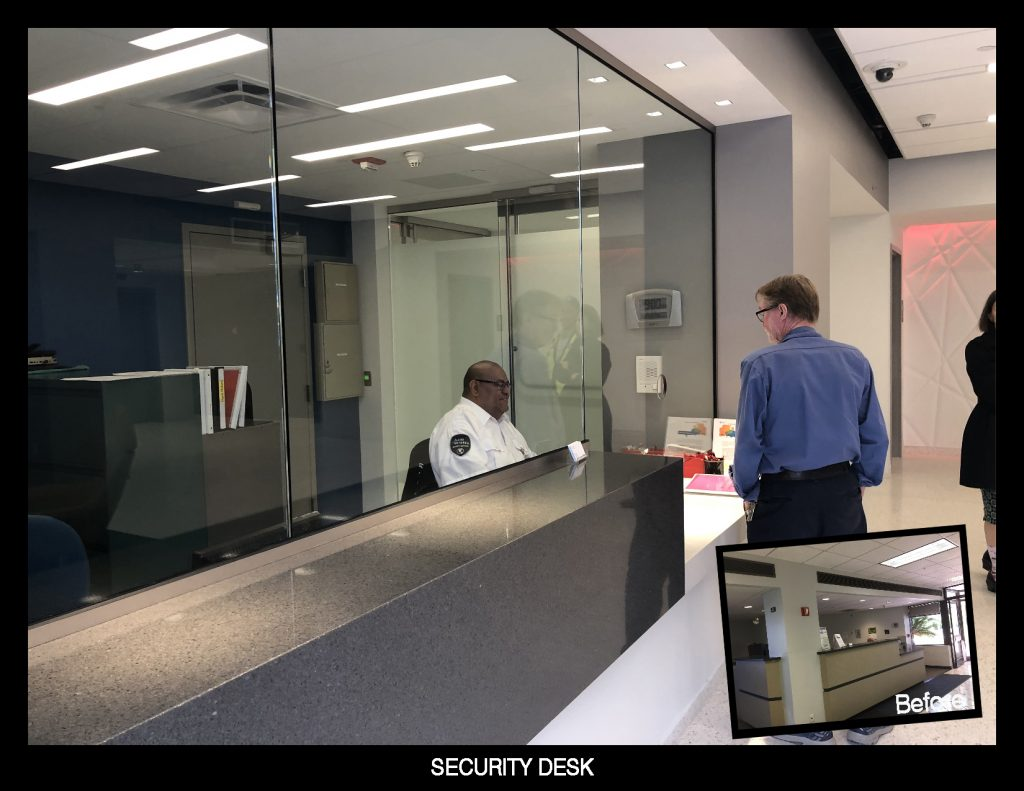 Building Security Desk Design