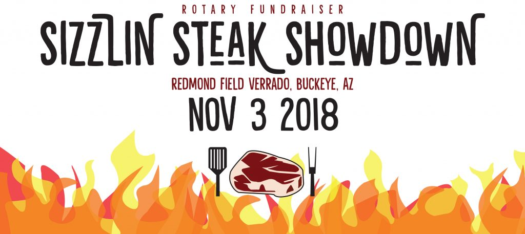 Rotary Sizzlin Steak Showdown Graphic Design
