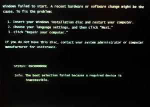 Windows start up screen