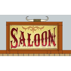 Saloon.  Anyone have some horns we can mount on top?