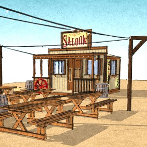 """Beer Booth concept, now the """"Saloon"""""""