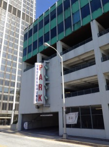 1950's Parking Structure replaced Kimball House