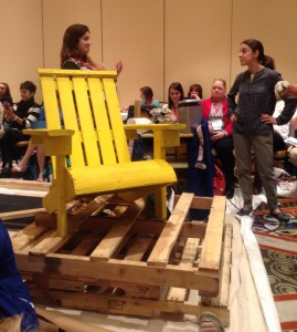 Making an adirondack chair out of wood pallets