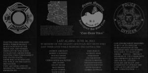 First Responders Memorial Plaza Graphics