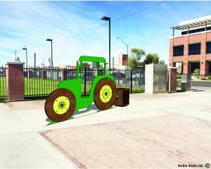 Buckeye Public Art Tractor