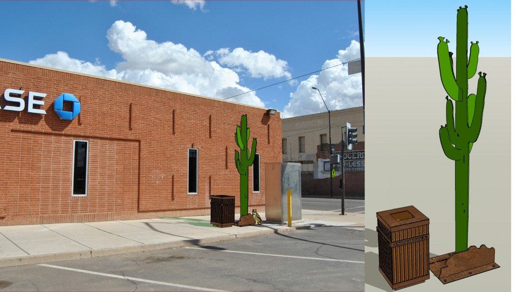 Public Art - Saguaro located at Northeast corner of Monroe and 4th Street