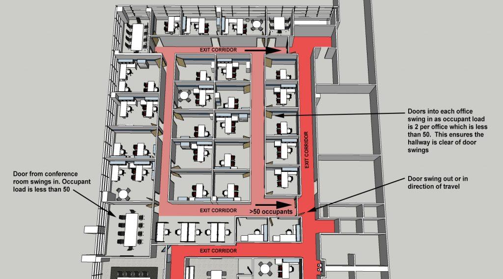Arizona Architect - door swing analysis
