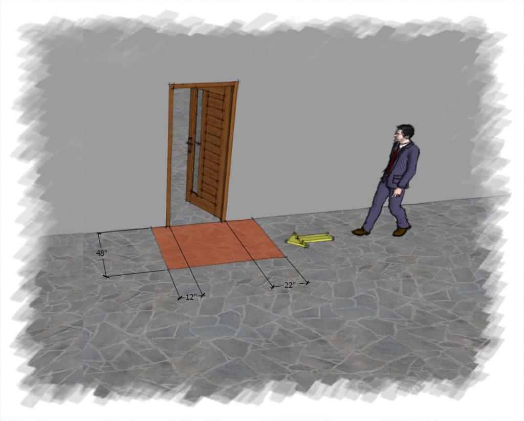 Clearance around a door